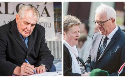 Do druhého kola prezidentských voleb postupují Miloš Zeman a Jiří Drahoš