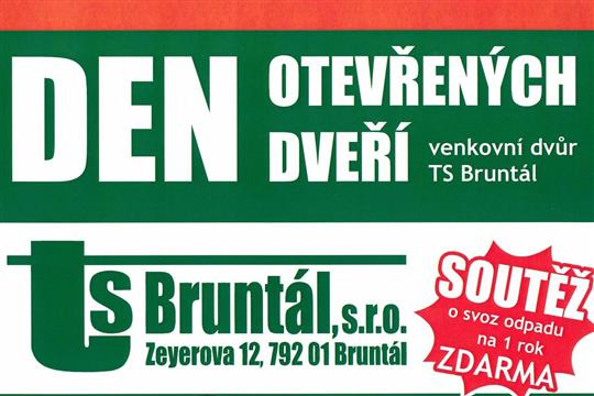 Venkovní dvůr TS Bruntál připravuje den otevřených dveří