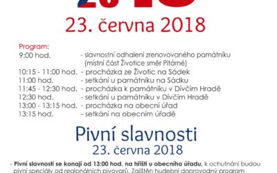 Dívčím Hradem projde průvod k připomenutí výročí vzniku Československé republiky a konce 1. světové války