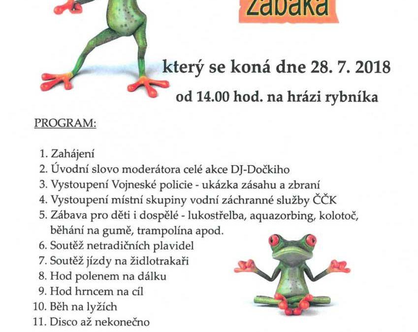 Andělskohorský žabák nabídne netradiční soutěže