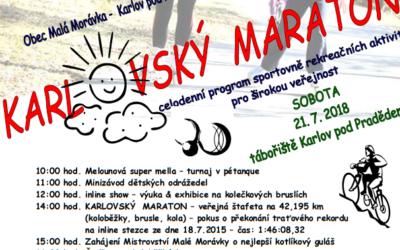 Pořadatelé zvou na Karlovský maraton a Mistrovství Malé Morávky o nejlepší kotlíkový guláš