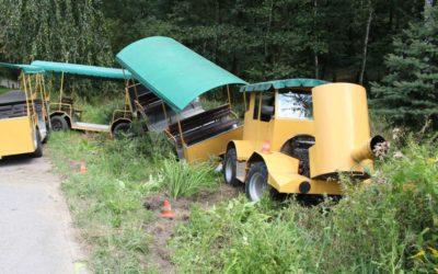 Nehoda výletního vláčku v Zoo Ostrava, muž a desetileté dítě byli zavaleni jedním z vozů