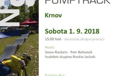 Pumptracková dráha v Krnově zahajuje provoz