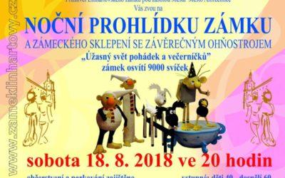 Linhartovský zámek osvítí  9 000 svíček