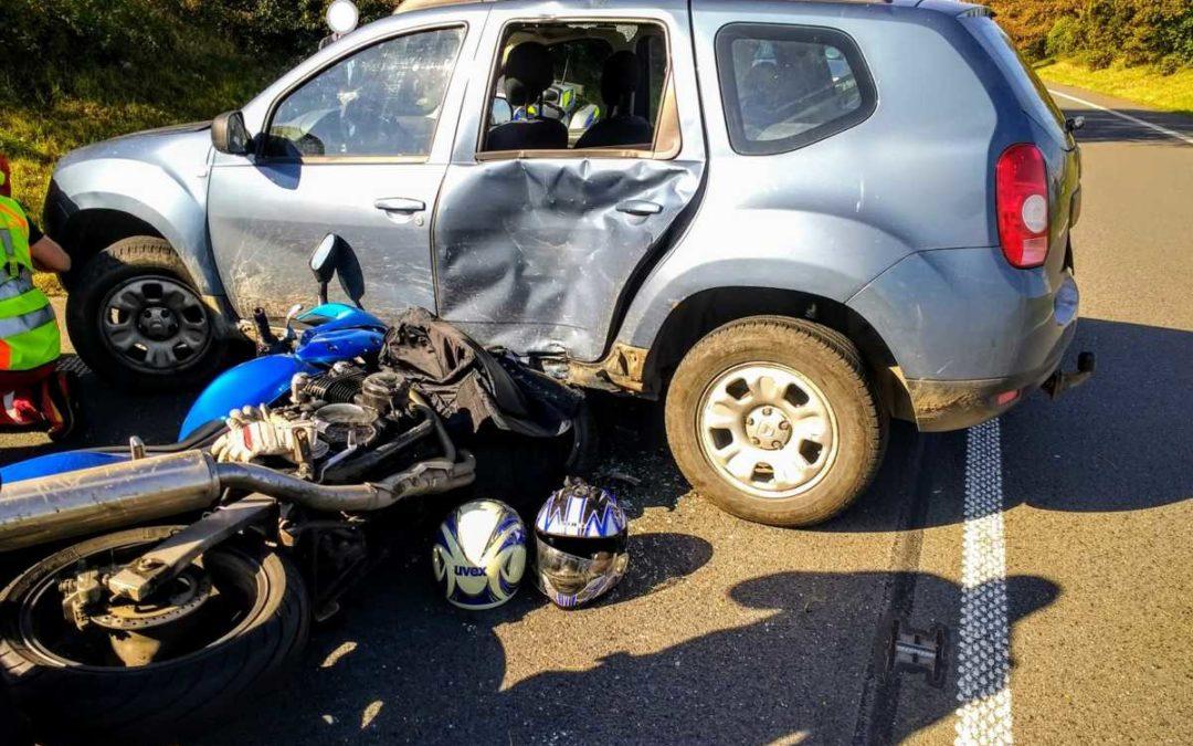 Posádky ZZS MSK zasahovaly u tří nehod motocyklistů