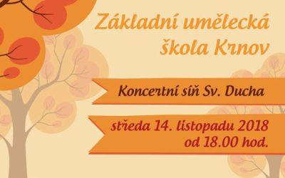 ZUŠ Krnov zve na podzimní koncert