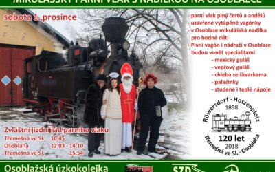Mikulášským parním vlakem uzavřou letošní sezónu na Osoblažce