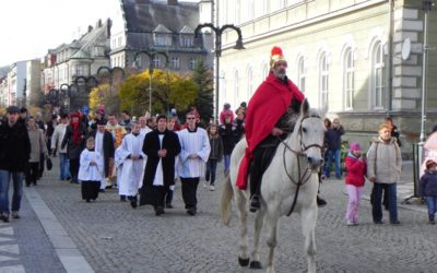 Také letos přijede do Krnova svatý Martin na bílém koni
