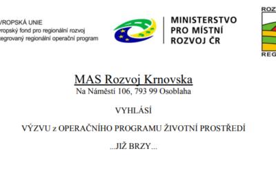 MAS Rozvoj Krnovska vyhlásí v únoru výzvu z Operačního programu Životní prostředí