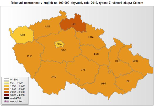 V ČR stále přetrvává plošná chřipková epidemie