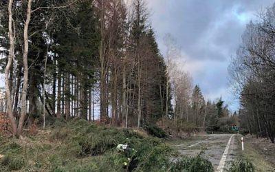 Moravskoslezští hasiči měli téměř čtyři stovky výjezdů kvůli silnému větru