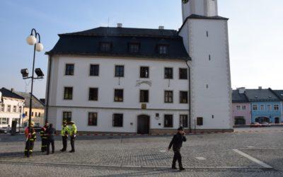 Rýmařovská radnice po explozi výbušniny už pracuje ve standardním provozu