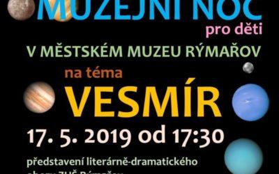 Městské muzeum Rýmařov připravilo pro děti vesmírnou Muzejní noc