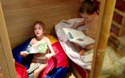 Děti mají k dispozici infrasaunu ve školní družině i v mateřské škole