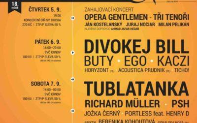 Na Krnovských hudebních slavnostech vystoupí Tublatanka