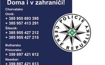 O bezpečnost turistů se opět starají čeští policisté