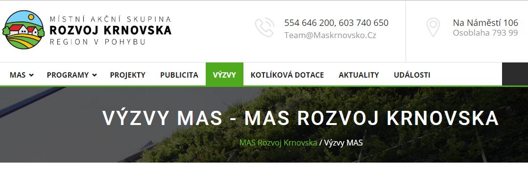 Harmonogram výzev místní akční skupiny Rozvoj Krnovska na rok 2019