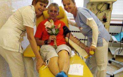 Hrdinství má mnoho podob, třeba dárce s 230 odběry krve na Transfúzní službě v Bruntále
