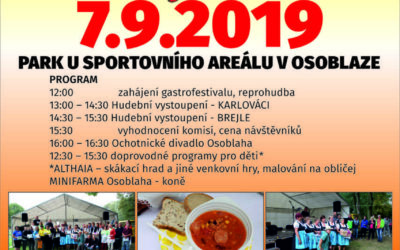 V parku v Osoblaze pořádají již 8. ročník festivalu chutí