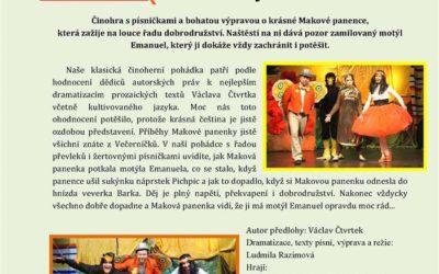 Městské divadlo v Bruntále uvede pohádku Maková panenka a motýl Emanuel