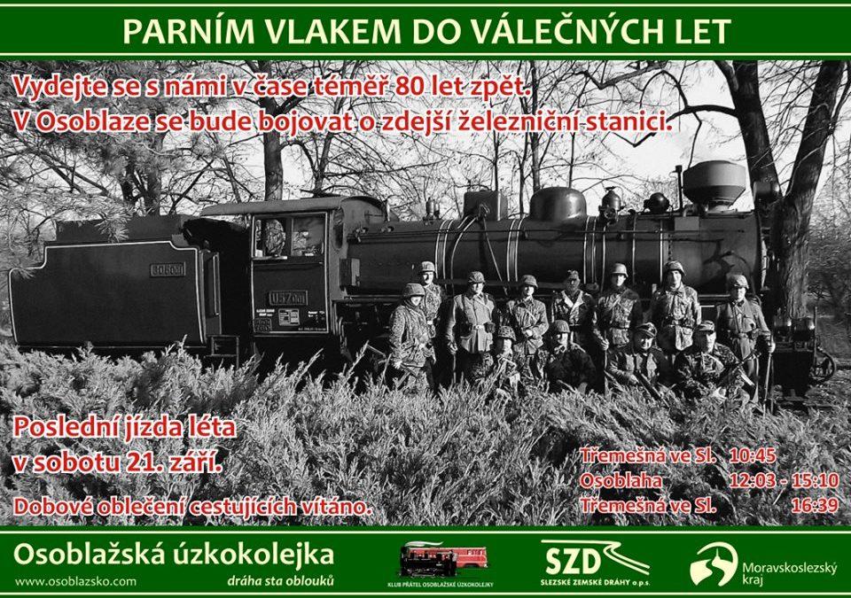 Vydejte se parním vlakem do válečných let