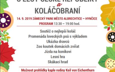 V zámeckém parku Město Albrechtice –Hynčice proběhne Den s lesy ČR – Koláčobraní