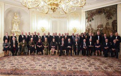 Prezident republiky udělil státní vyznamenání