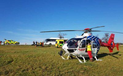 Zdravotnická záchranná služba zasahovala u dvou nehod motocyklistů