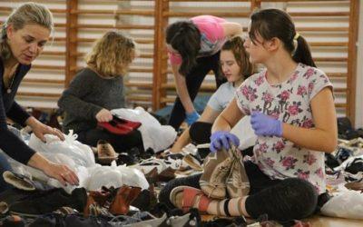 Školáci párovali boty pro Nadvirnu