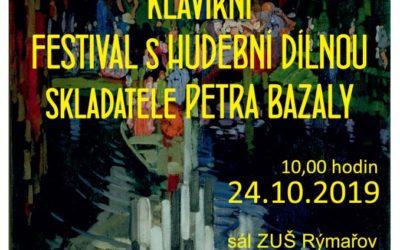 ZUŠ Rýmařov připravuje klavírní festival s hudební dílnou Petra Bazaly