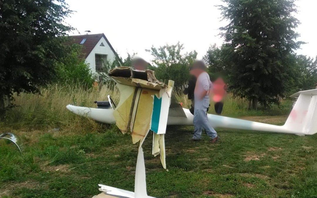 Tragický pád větroně v Ludvíkově: Policisté našli trosky letadla a mrtvého muže