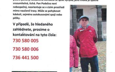 Hledá se Zdeněk Podešva z Opavska, pátrá po něm policie