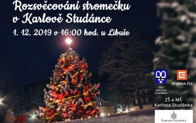 V Karlově Studánce rozsvítí 1. prosince vánoční stromeček