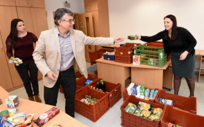Díky sbírce dostali potřební dvanáct a půl tuny potravin
