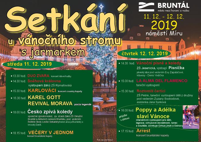 Program a vánoční jarmark oživí náměstí Míru v Bruntále