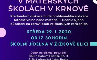 V Krnově proběhne veřejná diskuze k nanonástřiku v mateřských školách