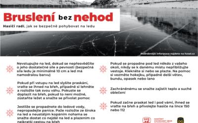 Hasiči radí: Jak se bezpečně pohybovat na ledu