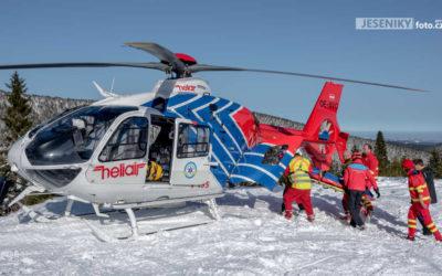 Třináctiletý chlapec se vážně zranil na snowboardu
