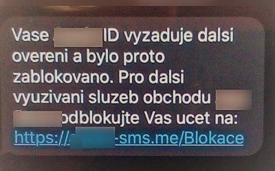Policie varuje před novou verzí phishingu, nereagujte na tyto SMS a nevyplňujte své údaje!