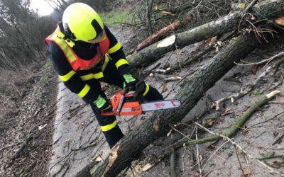 Hasiče v Moravskoslezském kraji opět zaměstnává silný vítr