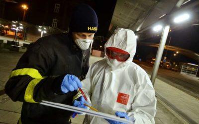 Moravskoslezští hasiči v březnu v boji s koronavirem rozhodně nezaháleli
