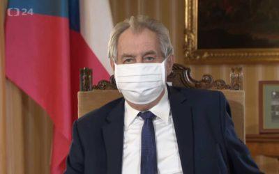 Prezident ČR Miloš Zeman: Proto bych vám všem chtěl popřát víru, naději alásku