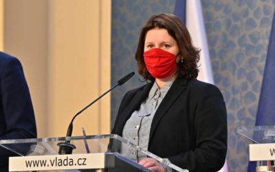 Ministryně Maláčová na vládě prosadila rozšíření programu Antivirus. Má pomoci ochránit další stovky tisíc pracovních míst