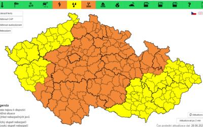 Meteorologové varují: Česko zasáhnou silné bouřky, hrozí přívalové deště a kroupy