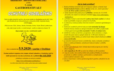Pořadatelé přijímají přihlášky na 9. ročník gastrofestivalu Ochutnej Osoblažsko