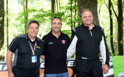 Na Vrbenský vrch zavítal francouzský automobilový jezdec Sébastien Petit