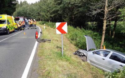 Na Vrbensku se střetla dvě auta, při nehodě se zranilo pět seniorů