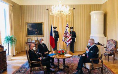 Prezident Miloš Zeman jmenoval Jana Blatného ministrem zdravotnictví