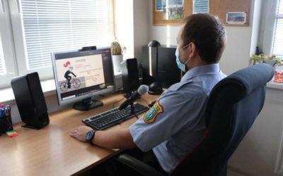 Strážníci-preventisté vyučují děti on-line dopravní výchovu