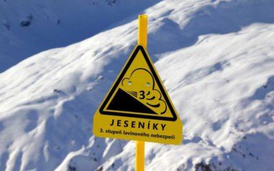 V Jeseníkách platí třetí stupeň lavinového nebezpečí z pětibodové škály